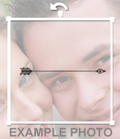 Sticker de una flecha para añadir en tus fotos y usar como tattoo