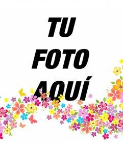 Añade flores decorativas en tus fotos subiéndolas a este efecto online