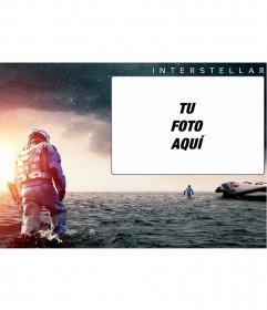 Collage para poner tu imagen con una foto promocional de la peli Interstellar