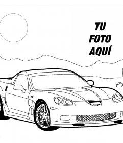 Foto efecto para añadir una foto en un dibujo de un coche y luego imprimir