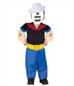 Montaje online del disfraz de Popeye El Marino para los niños