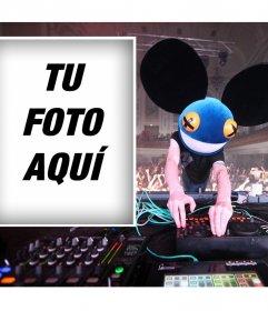 Sube tu foto si te gusta el dj famoso Deadmau5 y gratis