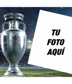 Sube tu foto a este marco editable con la Copa de la Euro