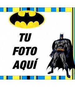 Marco gratis de Batman para personalizar con tus fotos