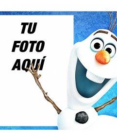 Fotomontaje para tu foto junto con Olaf de la película animada Frozen