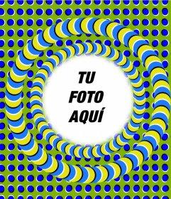 Foto efecto para editar y añadir un marco de ilusión óptica a tus fotos