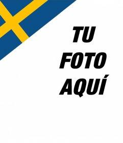 Fotomontaje para poner la bandera de Suecia en la esquina de tu foto