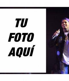 Chris Brown en tus fotos con este foto efecto para editar gratis