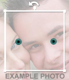 Edita este foto efecto gratuito si quieres tener los ojos azules