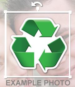 Símbolo de reciclaje para pegar en tus fotos gratis