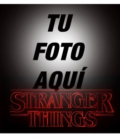 Foto montaje de Stranger Things para editar con tu foto online