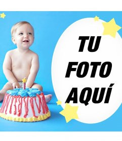 Efecto para desear un feliz cumpleaños a un bebé