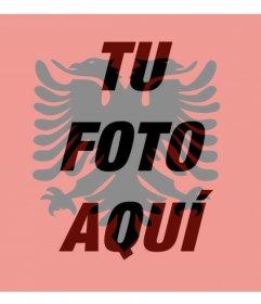 Foto filtro con la bandera de Albania perfecto para tu foto de perfil