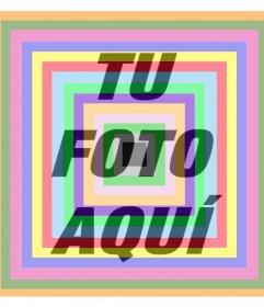 Añade cuadros de colores encima de tus fotos como un filtro online
