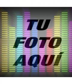 Filtro online de ecualizador de música de colores para tu foto