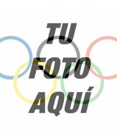 Bandera con el símbolo de las olimpiadas para poner como filtro en tu foto