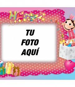 Marco para fotos y con decoración de fiesta de cumpleaños