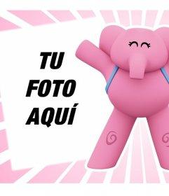 Efecto online con la elefante Elly de Pocoyo perfecto para subir tu foto