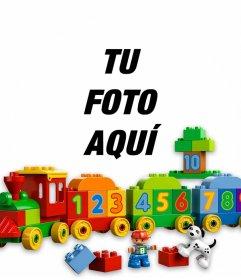 Fotomontaje de juguetes para subir la foto de tu niño