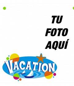 Fotomontaje para decorar tus fotos de vacaciones con adornos de playa