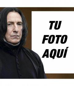 Fotomontaje con Snape de Harry Potter para subir una foto