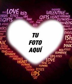 Fotomontaje de amor con palabras para tu foto