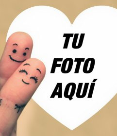 Fotomontaje de Amor para subir una foto a un corazón