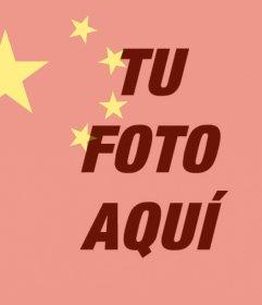 Bandera de China para poner sobre tu foto