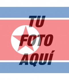 Bandera de Corea del Norte para añadir como filtro a tus fotos
