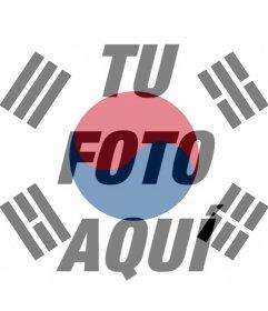 Filtro de la bandera de Corea del Sur para tu foto