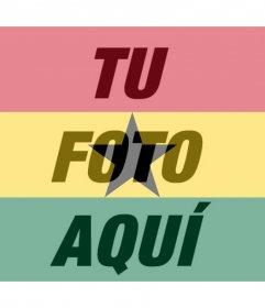Bandera de Ghana para aplicar como filtro a tus fotos