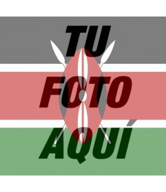 Filtro de la bandera de Kenia para tu foto de perfil