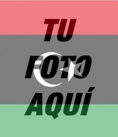 Fotomontaje de la Bandera de Libia para tu foto