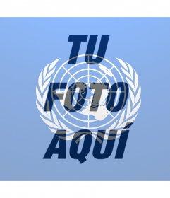 Bandera de la ONU para poner encima de tu foto