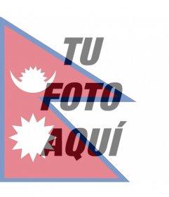 Fotomontaje de la bandera de Nepal para tu foto