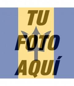 Bandera de Barbados para poner en tu foto de perfil