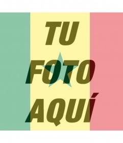Fotomontaje de la bandera de Senegal para tu foto