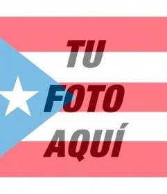 Bandera de Puerto Rico para poner en tu foto