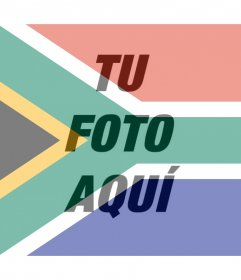 Fotomontaje de la bandera de Sudáfrica para tu foto