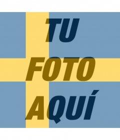 Fotomontaje de la bandera de Suecia para tu foto