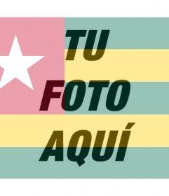 Edita tu foto de perfil con el filtro de la bandera de Togo