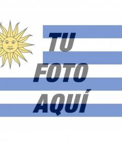 Poner la bandera de Uruguay en tu foto