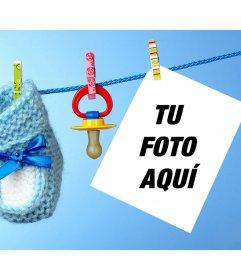 Fotomontaje infantil con un chupete para subir una foto