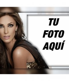 Fotomontaje para los fanáticos de Anahí donde pueden subir su foto