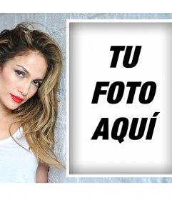 Efecto para los fanáticos de Jennifer Lopez para editar