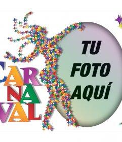 Efecto colorido para celebrar Carnaval con tu foto y gratis