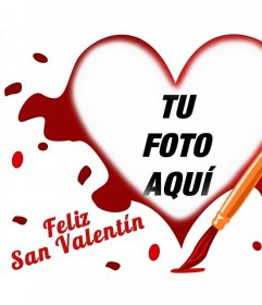 Fotomontaje para celebrar el Día de San Valentín con una foto