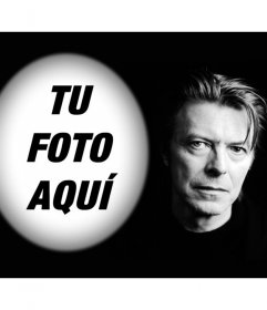 Fotomontaje con David Bowie para subir una foto