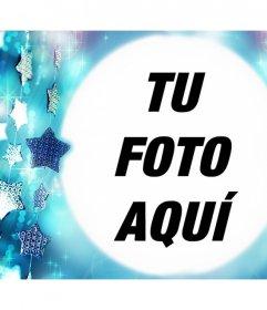 Marco gratis de estrellas azules para subir tu foto