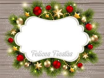 Fotomontaje de marco de Navidad para tu foto
